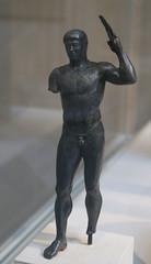Bronze Diskus Thrower (griannan) Tags: 2009 loh metmuseum bronzesculpture greekandromangalleries opalartseekers4 WLA:org=metmuseum WLA:cat=1 WLA:team=opalartseekers4