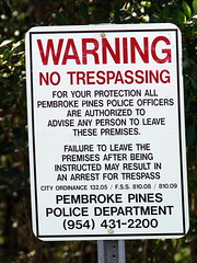 No Trespassing Sign 20090225