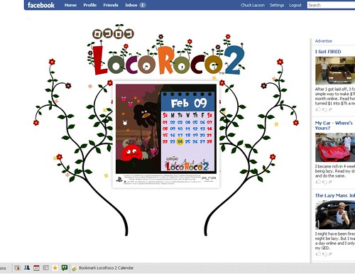 LocoRoco 2 Facebook Fanpage