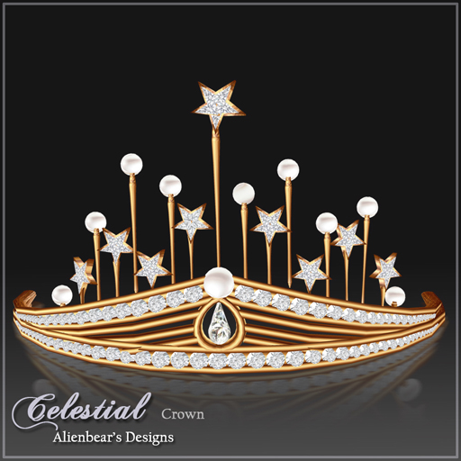Celestial Gold Pearl & Diamond crown