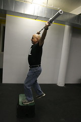 #7. Overhead: Barbell Step-Up.