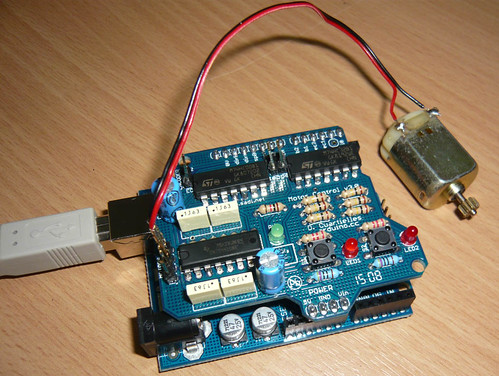 motor shield with DC motor