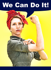 We Can Do It! (Theresa Thompson) Tags: selfportrait poster rosietheriveter wwii explore wecandoit
