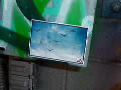 SN (liquidnight) Tags: seattle streetart birds geese stickers sodo sn legalwall ephemeralart freewall slightlynorth