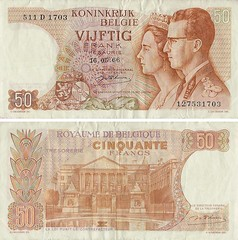 Blgica - 50 Francs 1996 (Luis Pedroso) Tags: money notes collection note notas belgica currency nota banknote papermoney cedula coleco