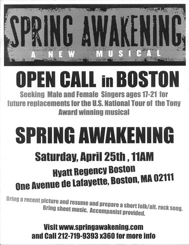 Boston Open Call '09 Flyer