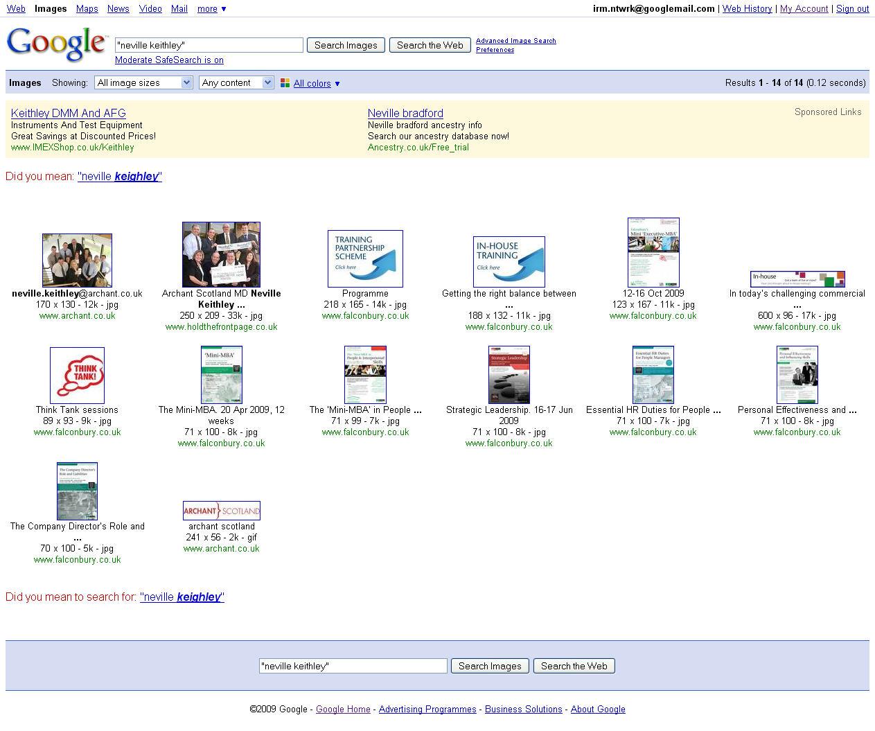 Neville Keithley - Google Photo CV - Exact Match