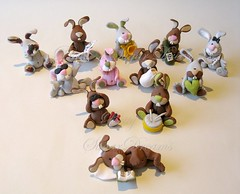 Easter Rabbits (Bettys Sugar Dreams) Tags: rabbit bunny cake germany handmade hamburg polymerclay fimo clay caketopper figurine easterbunny hase hasen easterrabbit sculpy torten osterhase individuel hochzeitstorten sugarcraft osterhasen motivtorten bettyssugardreams bettinaschliephakeburchardt