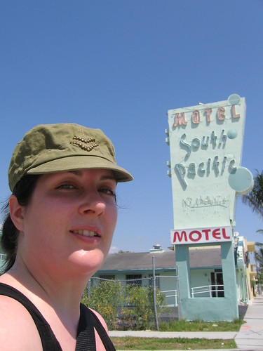 in front of the South Pacific Motel