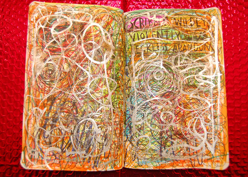WTJ: scribble wildly, violently with reckless abandon