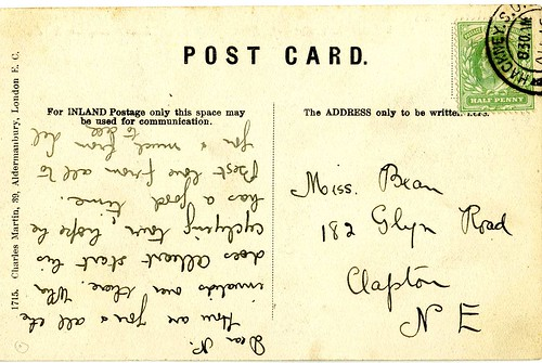 How To Address A Postcard. NE address, 1906 Postcard.