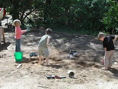 Backyard dig, when the grandkids come to stay! (spelio) Tags: jack sam lucy dig garden kids 2009 lawn home drought yard play dirt 261views140117