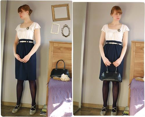 marchewkowa.blogspot.com, j.z., fashion blog, vintage, second hand, H&M, moda 2009, KappAhl, broszka, buty CCC