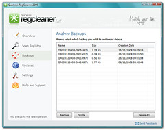 Quicksys RegCleaner - Backups Windows (quicksys) Tags: windows registry regcleaner regclean bmsoftware quicksys