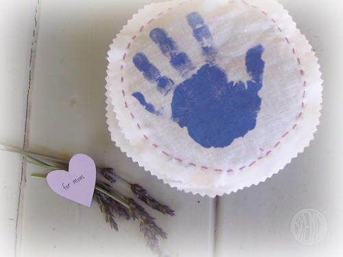 Handmade Mother's Day Gift: Handprint Lavender Sachets