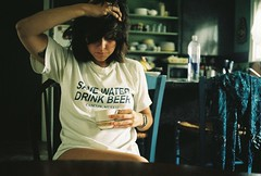 (jackie young.) Tags: water beer 35mm austin texas drink beth save sigh bethshome