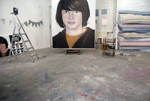 Charlotte Beaudry : studio view, march 2009 by Marc Wathieu.