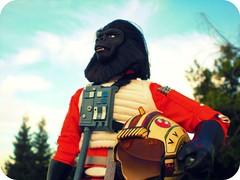 Ape-Wing Pilot (8 Skeins of Danger) Tags: starwars planetoftheapes xwingpilot 8skeinsofdanger gorillapilot