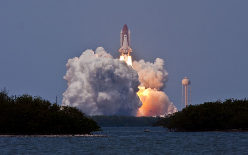 STS-125 Clears the Tower