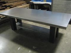 Galvanized Top Table