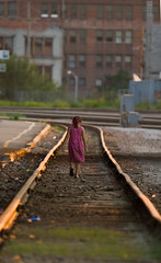 Amber (PGornell) Tags: urban girl walking factory child tracks rails omaha youvsthebest thepinnaclehof