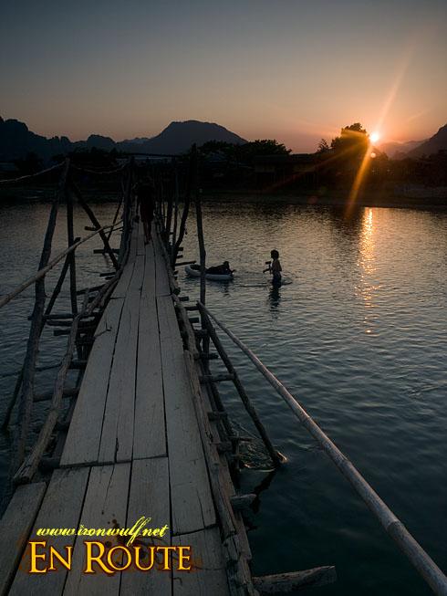 Vang Vieng River Bridge