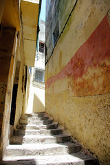 Steps To Where In Morocco (cwgoodroe) Tags: tangier tanger morocco moroccan africa ferry plane bus doorway arab muslim mosque merchant street arabic metaldoors colors summer streetlife vibrant poor kasbah casbah casbha ancient moors christians fishmerchant artistic ocean city sea sand sun panasonic pentax continent people script merchants children metal doors colorful conservative fish monger cafe friendly vegtable old cleric casba dailylifeportrait sadfaces