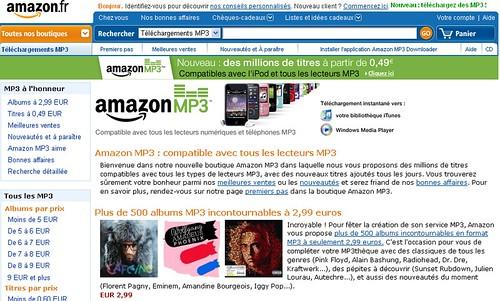 Amazon lance Amazonmp3 2