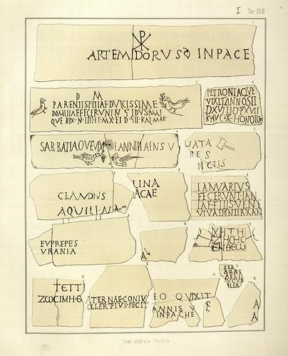 005- Inscripciones de las catacumbas-La Roma sotterranea cristiana - © Universitätsbibliothek Heidelberg