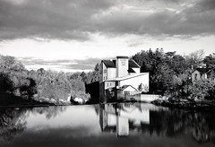 Elora Mill,  1998 Tom Zsolt (Tom Zsolt) Tags: old blackandwhite bw ontario canada mill water architecture river town tomzsolt