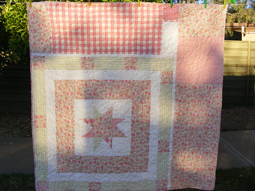 Back of Marguerite's quilt