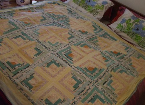 log cabin quilt top!