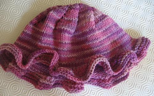 Pink Ruffle Hat