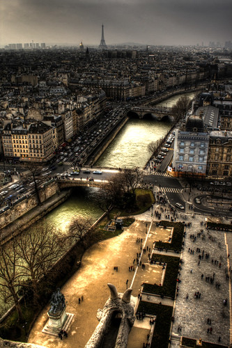 El Sena desde Notre Dame de París. The Seine as seen from Notre Dame Cathedral.