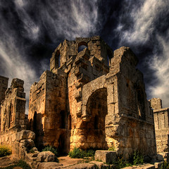 Syria - St. Simeon Church - Explore (rinogas) Tags: old city travel light color history tourism archaeology landscape outdoors temple photography ancient nikon ruins view image citadel capital columns ruin scenic middleeast cities location east temples arabia syria d200 middle exploration past archaeological civilizations sites siria the magiclight blueribbonwinner otw beautifulphoto sansimeone idream nikkor1224dx aplusphoto flickrestrellas hdraward nikonflickraward flickraward rinogas absolutelyperrrfect magicunicornverybest obramaestra magiayfotografia
