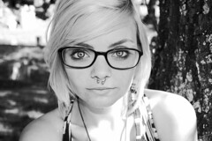 4/365 The Woods. (ElizabethGrace) Tags: white black tree glasses eyes woods cemetary vfw