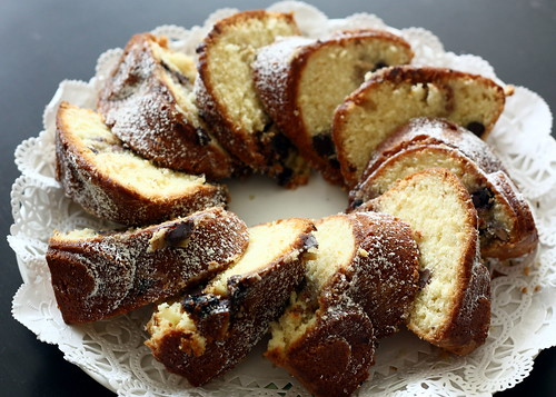 INutty, Chocolaty, Swirly Sour Cream Bundt Cake