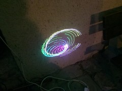 swirly laser patterns