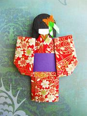 origami paper doll Akiko (umeorigami) Tags: japan japanese origami geisha yukata kimono paperdoll washi chiyogami origamidoll chiyogamidoll