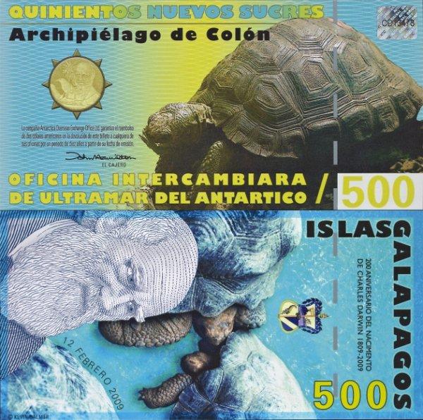 500 Sucres Galapágy 2009 1. vydanie, Antartico