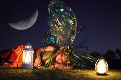 Shhhh... Fairy Sleeping (gbrummett) Tags: portrait moon cute beautiful fairytale night nocturnal az stunning mystical magical highiso gilbertarizona uniquecreations twigthefairy freestonepark arizonarenaissancefestival 4000iso canonef50mmf12lusmlens grantbrummett canon5dmarkiidigitalcamera 2010azrenfes