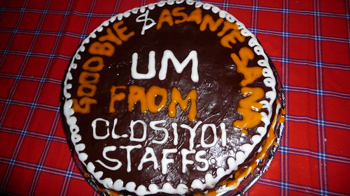 Day 8: Thank you cake from the staff