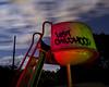 Lost Childhood (Lost America) Tags: lightpainting abandoned playground night clouds hospital slide urbanexploration ue urbex decommissioned oakknollnavalhospital