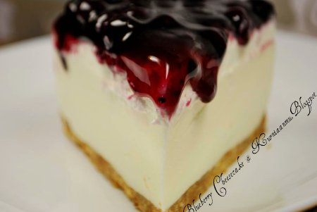 Resepi Blueberry Cheesecake Chilled