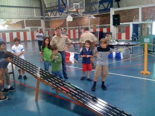 """Pinewood derby -- Gibson tries to follow his car as it blurs past • <a style=""""font-size:0.8em;"""" href=""""http://www.flickr.com/photos/28749633@N00/4629850343/"""" target=""""_blank"""">View on Flickr</a>"""
