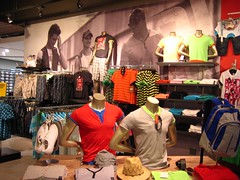 X-Board Plus Shelving for Clothing Retailer