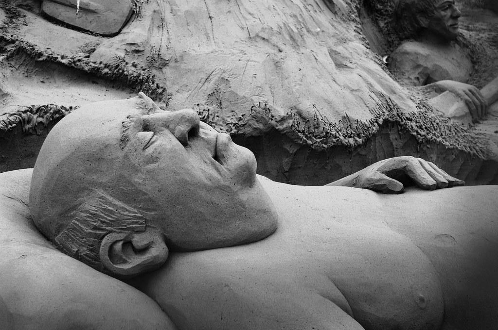 sand sculptures in Scheveningen