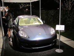 2011 Porsche Panamera Turbo on the Plaza at the Greek Theatre (PorscheLosAngeles) Tags: tower greek war power display theatre hills turbo porsche beverly concerts sponsor panamera