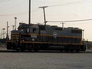 Belt Railway of Chicago EMD roadswitcher # 582 at work. Clearing Yard. Bedford Park Illinois. September 2006.