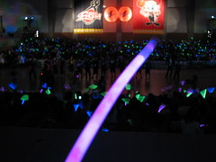 Osaka Evessa Post-game Glowstick Show - Kadoma, Osaka, Japan 2 (glazaro) Tags: show city basketball japan japanese asia stadium arena dome  osaka glowstick sendai kansai kadoma namihaya bjleague evessa 89ers